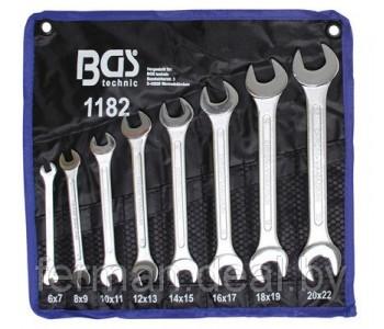 Набор рожковых ключей 6-22 мм, 8 предм. BGS 1182