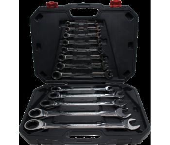 Набор комбинированных ключей-трещоток BGS 30006, 13 предметов