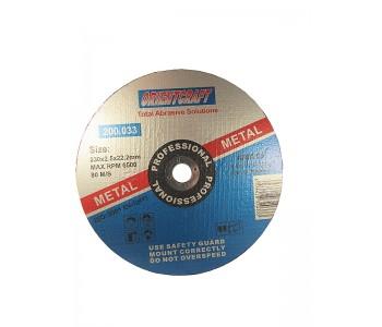 Круг отрезной по металлу Orientcraft 230х2,5х22,23 мм