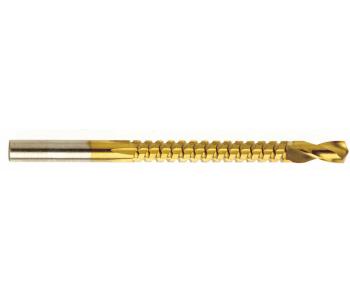 Сверло-фреза HSS-TiN 6,0х90 мм с титановым покрытием