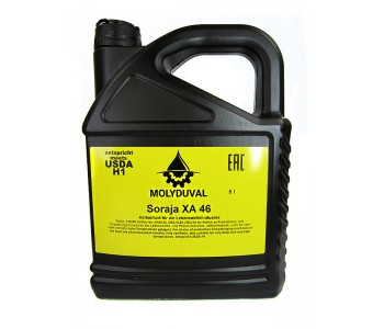 Синтетическое масло для цепей MOLYDUVAL Soraja XA 46, канистра 5л